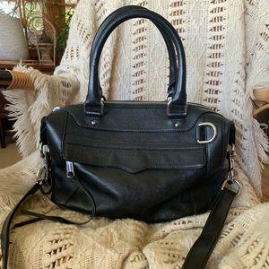 Rebecca Minkhoff black leather satchel